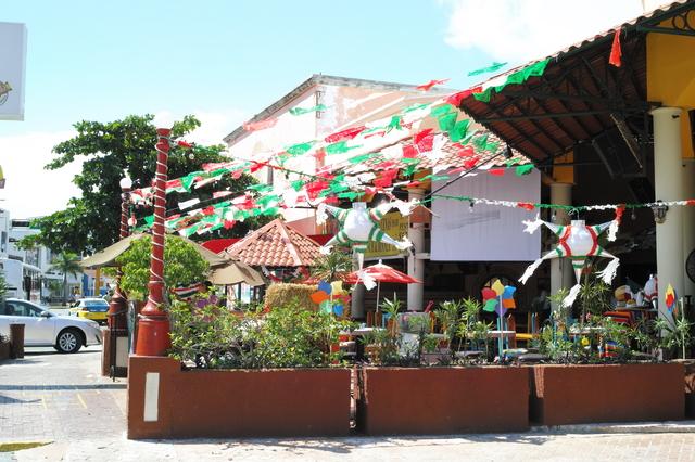 メキシコのカンクンの中心地