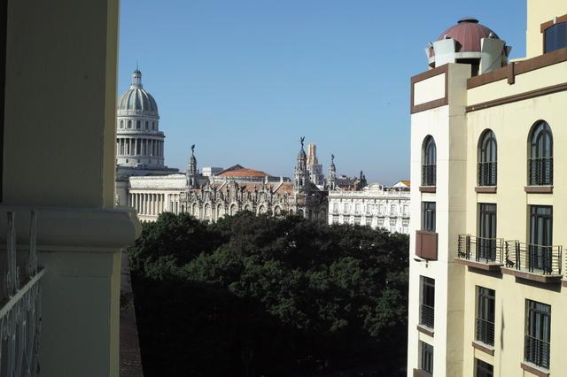 プラサホテルの食堂から見える景色