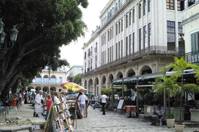 アルマス広場のフリマ