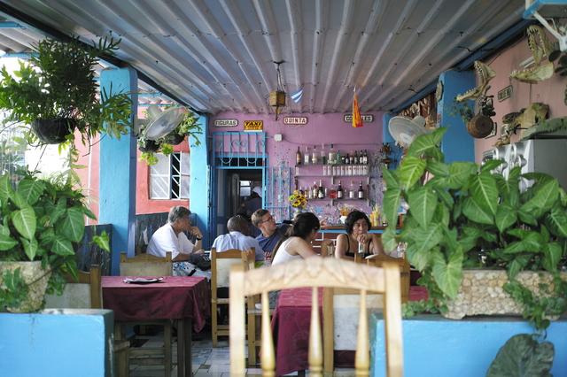 キューバのレストラン