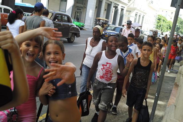 キューバの小学生