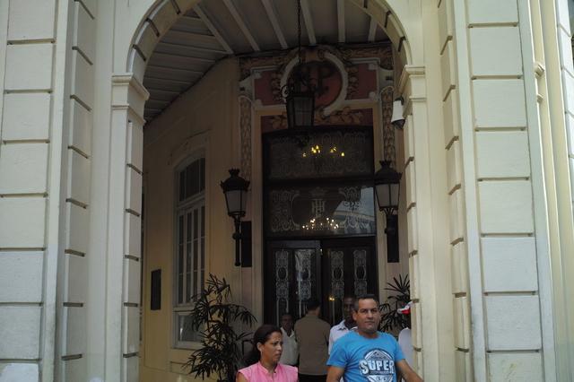 プラサホテル入口