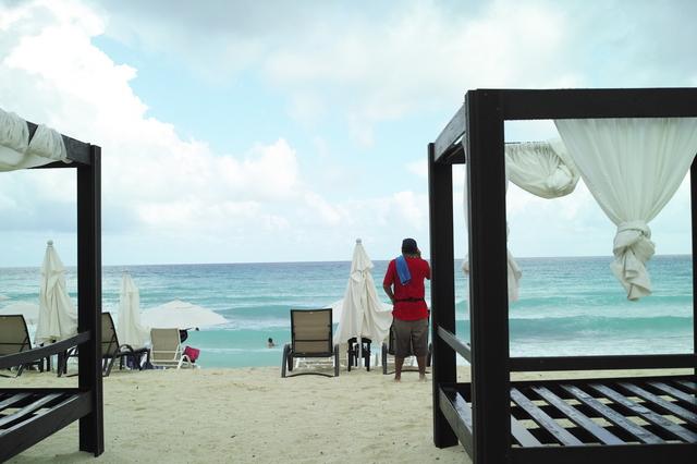 中心地のビーチ